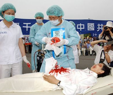 Tajwański protest przeciwko grabieży organów w Chinach