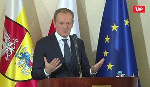 Donald Tusk w Białymstoku. Były premier komentuje kwestię polexitu