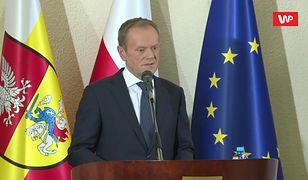 """Donald Tusk w Białymstoku. Polityk """"wbił szpilę"""" obozowi rządzącemu"""