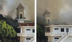 Niesamowite nagrania. Żywioł zniszczył kościół na oczach ludzi