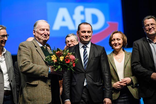 Milionowy spadek dla AfD. Na zdjęciu: liderzy partii na zjeździe w Brunszwiku