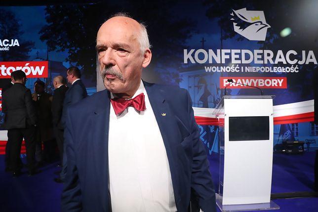 Janusz Korwin-Mikke podczas zjazdu prawyborczego Konfederacji (zdj. arch.)