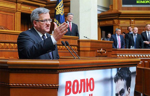 Drobna wpadka Bronisława Komorowskiego ws. przemówienia w ukraińskim parlamencie