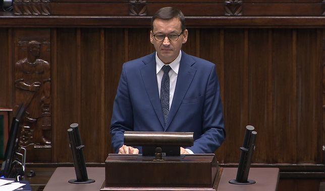 """Premier Mateusz Morawiecki w Sejmie. """"Nie możemy być obojętni wobec Białorusi"""""""