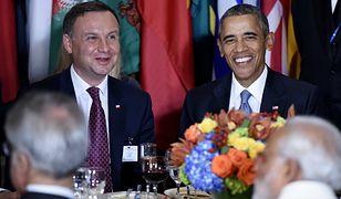 Prezydent Andrzej Duda z prezydentem USA Barackiem Obamą