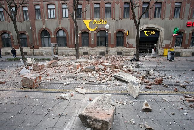 Trzęsienie ziemi, które wystąpiło w Chorwacji w marcu 2020 r
