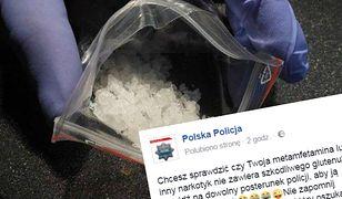 Wzruszający gest polskiej policji. Wyciąga pomocną dłoń do posiadaczy amfetaminy