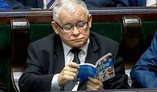 """Podczas ważnych głosowań w Sejmie prezes PiS czytał """"Atlas kotów"""". Wydarzenie było szeroko komentowane."""