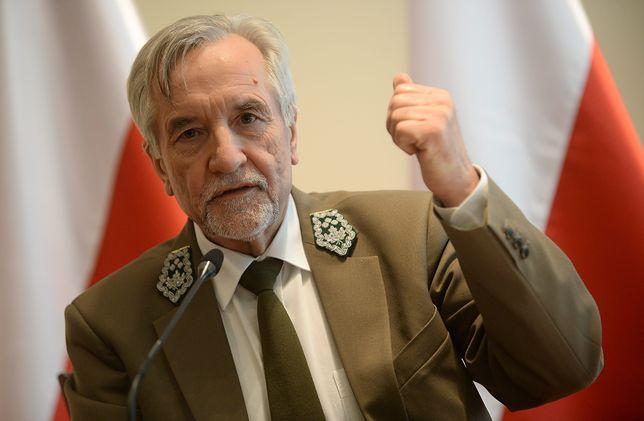 Szef Lasów Państwowych Konrad Tomaszewski
