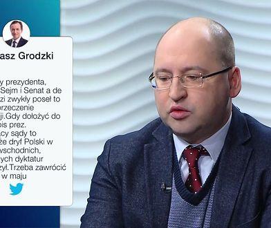 Tomasz Grodzki o podpisie Andrzeja Dudy. Mocna odpowiedź Adama Bielana