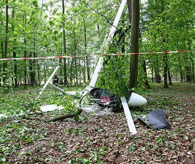 Wielkopolska. Szybowiec rozbił się w lesie. Za sterami 60-letnia kobieta