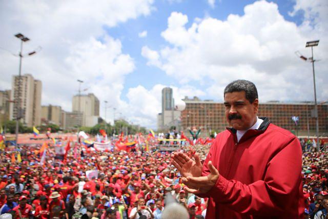 Nicolas Maduro na wiecu poparcia, 1 września 2016 r.