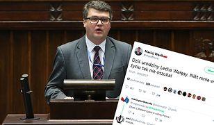 Poseł Wąsik zaatakował na Twitterze Lecha Wałęsę