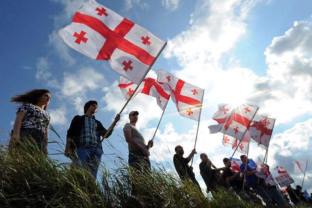 Gruzini protestują przeciwko aneksji terenów przez Rosję