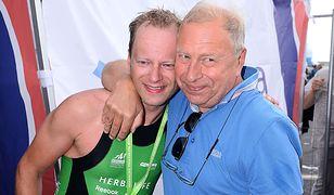 Maciej Stuhr z ojcem Jerzym Stuhrem