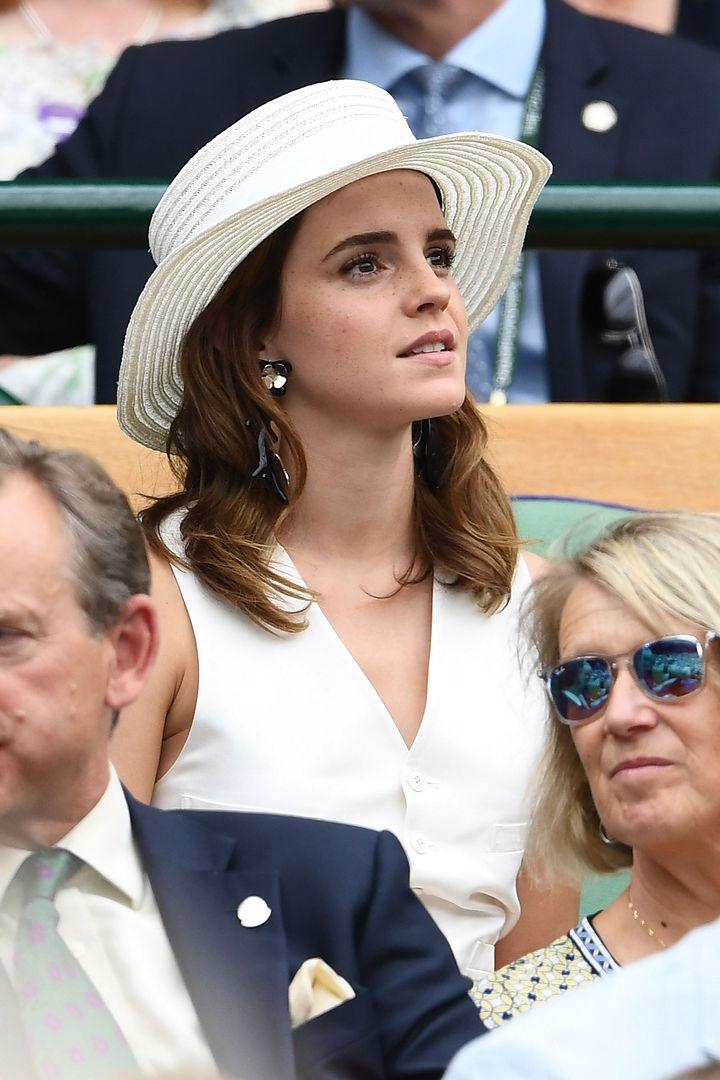 Emma Watson w świetnej stylizacji na Wimbledonie. Wyglądała świeżo i elegancko