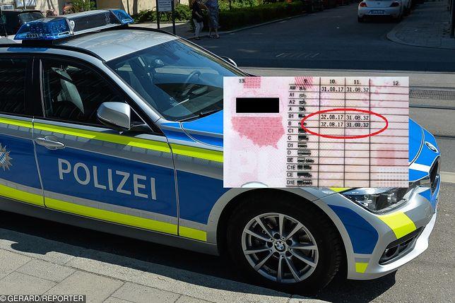 Prawo jazdy wydane 32 sierpnia? Policjanci zachowali czujność