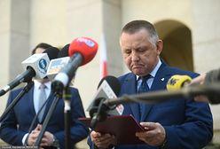 Marian Banaś wydaje oświadczenie po zatrzymaniu syna