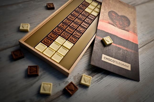 Telegram z czekolady pomaga wyrazić uczucia i będzie trafionym prezentem dla ukochanej osoby