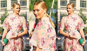 LOOK OF THE DAY: Karlie Kloss w kwiatowej sukience od Caroliny Herrery