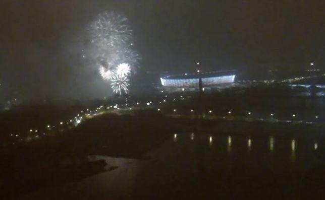 Tak wyglądała sylwestrowa noc w Warszawie [WIDEO]
