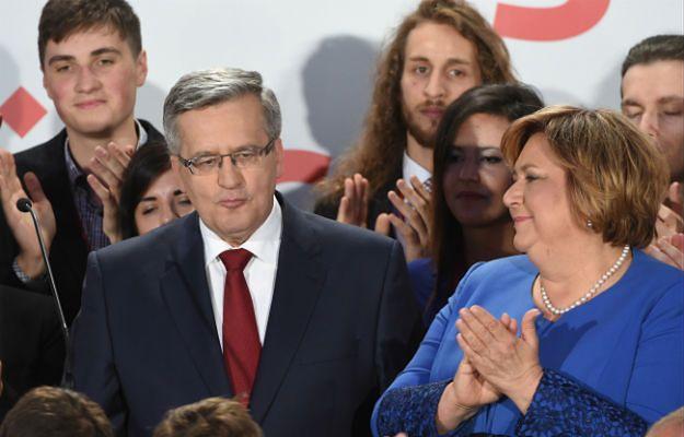 Bronisław Komorowski z małżonką podczas wieczoru wyborczego