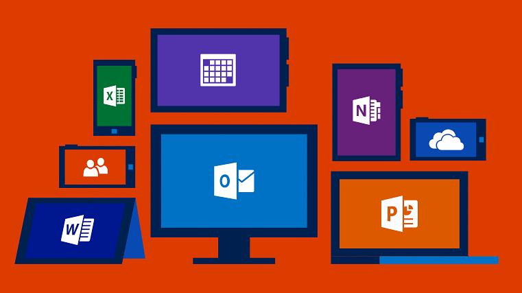 Office 365 z panelem powiadomień i zintegrowanym Skype dla firm