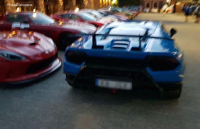Wyścigi w centrum Zakopanego. Kierowca lamborghini stracił prawo jazdy