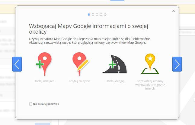 Kreator Map Google jeszcze jest dostępny.