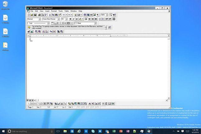 Stareńki Word na najnowszym Windowsie działa bez zarzutu