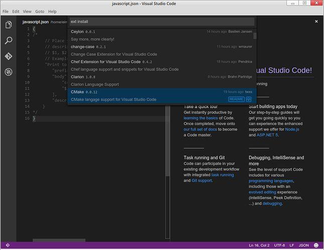 Przeglądanie listy rozszerzeń bezpośrednio z Visual Studio Code