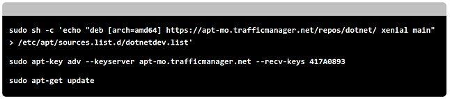 RHEL to RHEL, ale pojawiły się też repozytoria .NET-u na Ubuntu i inne popularne dystrybucje