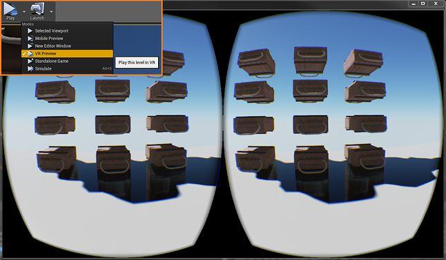 Podgląd w trybie Oculus Rift