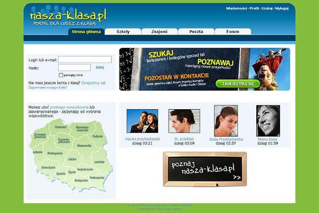 Pierwsza strona logowania portalu, 2006