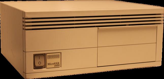 Końcówka komputera Chopin, czyli stacja robocza DEC MicroVAX 2000 (źródło: datormuseum.se)