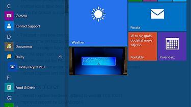 Windows 10: kompilacje 10036 oraz 10041 — pierwsze z linii impressive - Przezroczyste Menu Start, a pod nim ukryty changelog :D