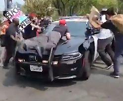 USA. Protesty przeciwko Trumpowi. Szokujące nagranie