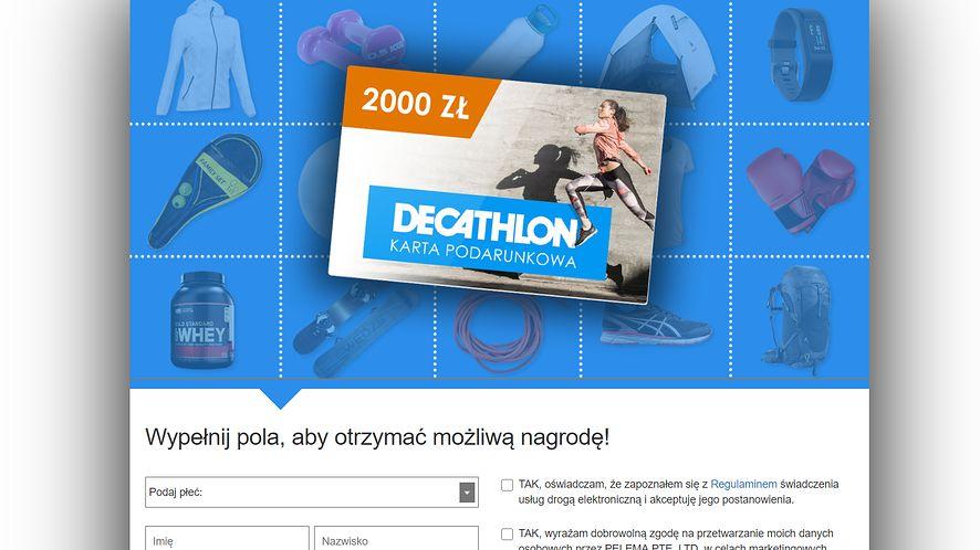 Ktoś na Facebooku podszywa się pod markę Decathlon, fot. Oskar Ziomek