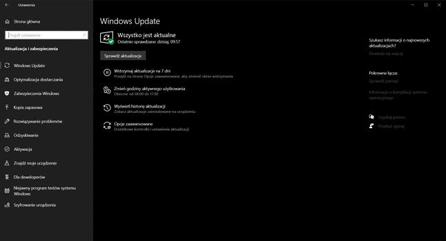 """Ten Windows 10 uważa, że """"wszystko jest aktualne"""", fot. Oskar Ziomek."""