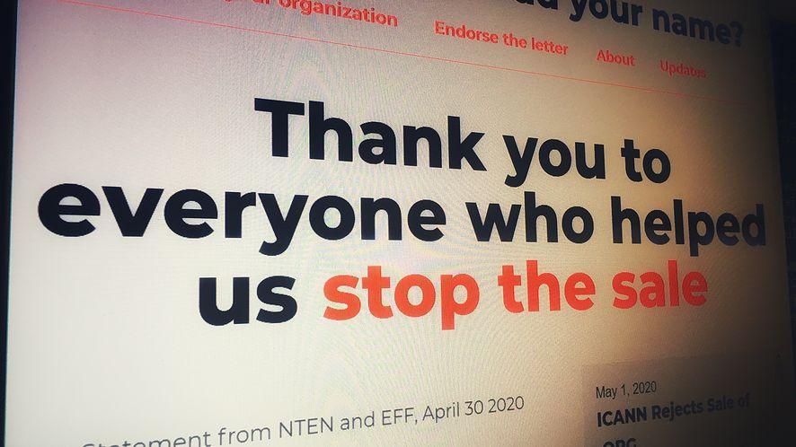 ICANN wycofuje się ze sprzedaży domeny nadrzędnej .org (fot. Kamil Dudek)