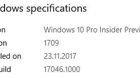 Kolejna porcja Fluent Design oraz usprawnień z zakresu wprowadzania tekstu i emotikon, czyli Windows 10 w kompilacji 17046 - Podana data instalacji - było to wcześniej?