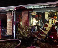 Podpalił dom matki. 40-latek chciał dobijać rannych kamieniami