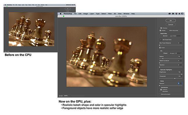 Jedna ze zmian w Photoshopie to przeniesienie części obliczeń z CPU na GPU, źródło: Blog Adobe.