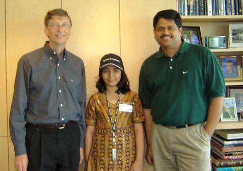 Billa Gates, Arfa Karim i Soma Somasegar.