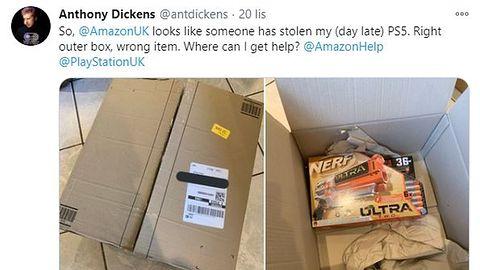 Zamówili PS5 w Amazonie. Dostali podejrzane przesyłki bez konsoli