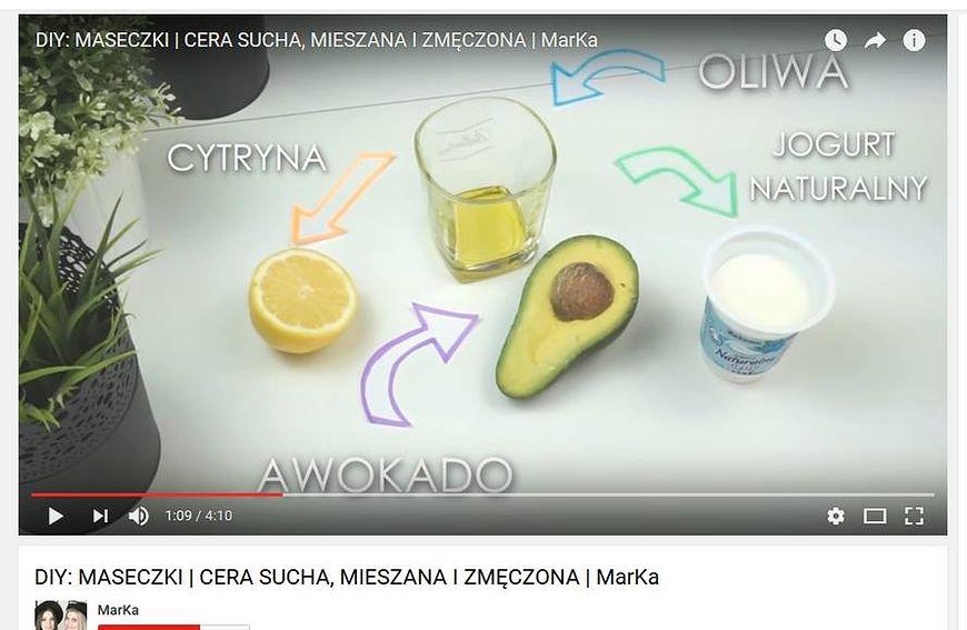Maseczka z awokado i jogurtu naturalnego jest polecana przez ekspertkę