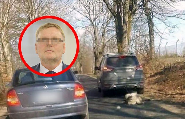Ciągnął psa za samochodem. Straszne odkrycie na posesji Waldemara B.