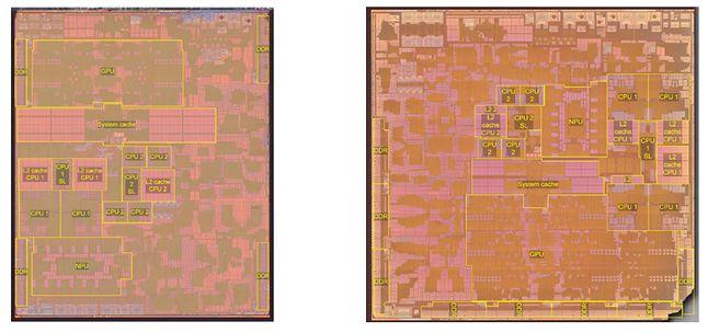 Apple A14 vs M1, fot. Tech Insights