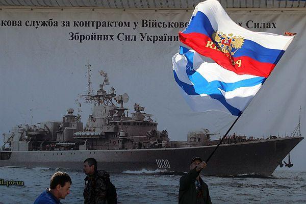 Rosyjskie flagi powiewają na Krymie