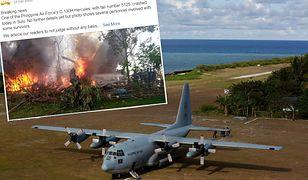 Filipiny. Katastrofa wojskowego samolotu. Na pokładzie były 92 osoby